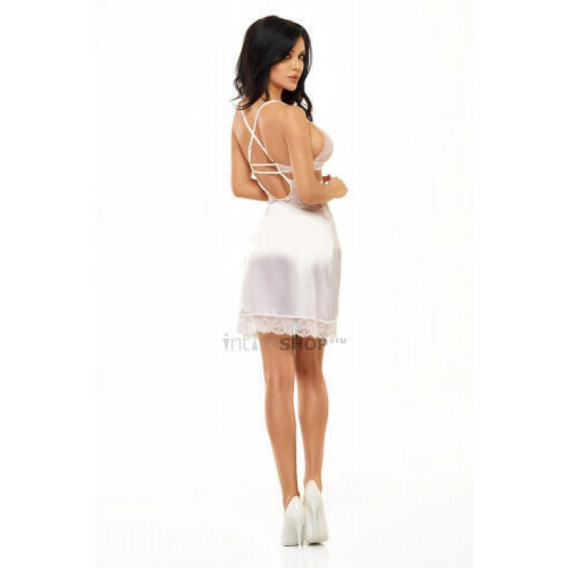 Сорочка Beauty Night Adelaide chemise White, Белый, L/XL (фото 4)